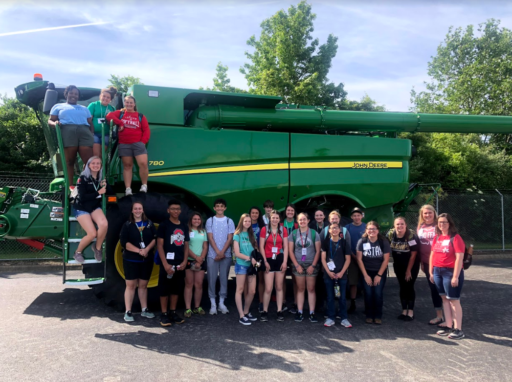 ExploreAg Campers at John Deere Training Facility